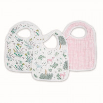 Classic Snap Bibs 3- Pack Forest Fantasy