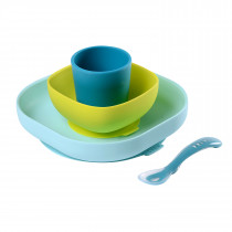 Silicone Meal Set of 4 - Blue
