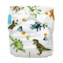 Diaper 2 Inserts Dinosaurs One Size Hybrid AIO