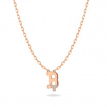 Baby Initial Pendant  Letter B, ب