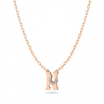 Baby Initial Pendant  Letter N, ن