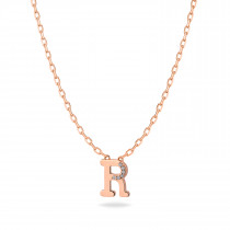 Baby Initial Pendant  Letter R, ر