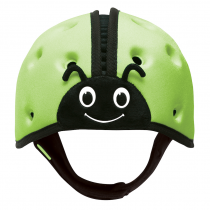 Soft Helmet For Babies Learning To Walk - Ladybird Green