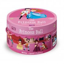 Book And Giant Puzzle Round Box -The Princess Ball