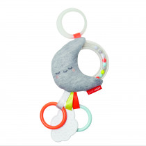 Silver Lining Rattle Stroller Toy - Moon