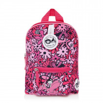 Mini Backpack+ Safety Harness − Floral Pink