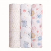 Classic 3 Pack Swaddles Year of the Mouse