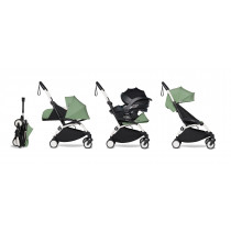 all-in-one BABYZEN stroller YOYO2 0+, car seat and 6+ White Frame & Peppermint