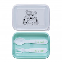 Lunchbox with Cutlery - Green
