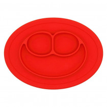 Plate Oval Red