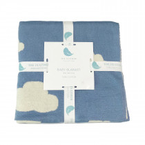 Knitted Baby Blanket - Clouds