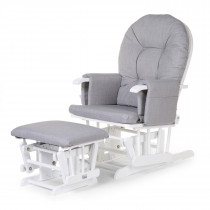 Gliding Chair With Footrest Grey