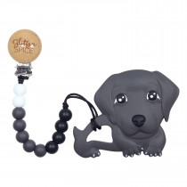 Teether with Clip - Wiener Dog