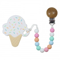 Ice Cream Cone Teether - Frosted Vanilla