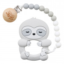Teether with Clip - Sloth