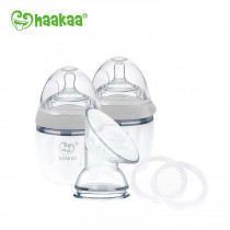 Haakaa Generation 3 - Silicone Pump And Bottle Pack - Grey