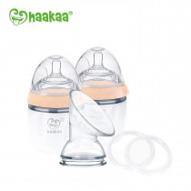 Haakaa Generation 3 - Silicone Pump And Bottle Pack - Nude