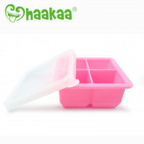 Silicone Baby Food Freezer Tray - 4X Cup - Pink