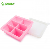 Silicone Baby Food Freezer Tray - 6X Cup - Pink