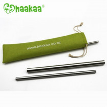 Stainless Steel Straws Straight With Ridges - S (3-Pack)