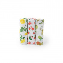 Cotton MuslinSwaddle 3 Pack -Fruit Stand