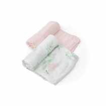 Deluxe Muslin Swaddle 2 Pack-Blush Peony