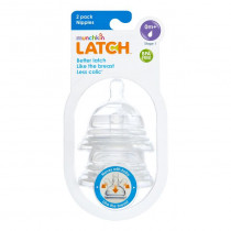 Latch Stage 1 Nipple 2 Pack - Clear