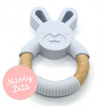 Nibbly Bits - Bunny Teether Ice Blue