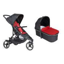 Dot Buggy & Carrycot Package - Chilli