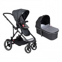 Voyager Buggy & Carrycot Package - Charcoal