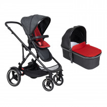 Voyager Buggy & Carrycot - Twin Package - Chilli