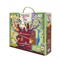 Giant Puzzle And Book-The Animal Tree