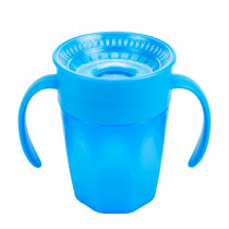 Cheers 360 Cup with Handles, 7oz/250 ml, Blue, 1-Pack