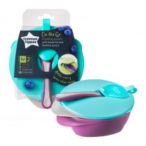 Explora 2 x Easy Scoop Feeding Bowl with Lid - Green