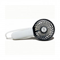 3 Speed Rechargeable Turbo Fan - White/Black