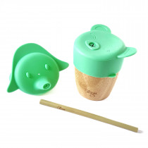 Bamboo Cup W Lids - Green
