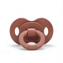 Bamboo Pacifier - Burned Clay - Natural Rubber