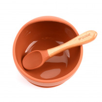 Silicone Bowl + Spoon Set -  Bohemian Rust