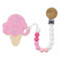 Ice Cream Cone Teether - Pink Bubblegum