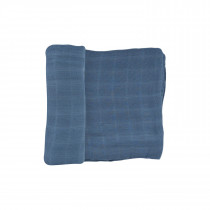 Deluxe Muslin Swaddle Single - Blue Dusk