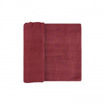 Deluxe Muslin Swaddle Single - Dusty Maroon