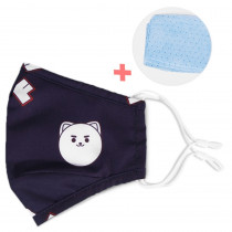 Kids Re-usable Face Mask - Panda Blue