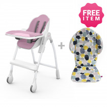 Cocoon Highchair with Seat Liner - Rose Meringue