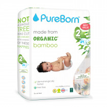 PureBorn Size 2 value pack 3 to 6Kg 64 pcs - Tropic