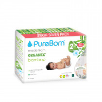 PureBorn Size 2 value pack 3 to 6 Kg 128 pcs - Tropic