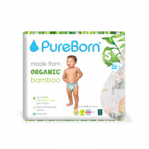 PureBorn Size 5 Single pack nappy 11 to 18 Kg 22 pcs - Grapefruit