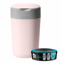 Twist and Click Advanced Nappy Disposal Sangenic Tec Bin - Pink