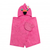 Hooded Towel - Franny the Flamingo