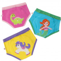 3 Piece Organic Potty Training Pants Set - Girls - Fairy Tails
