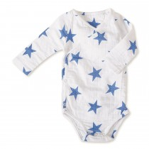 Long Sleeved Bodysuit- Medium Ultramarine Star 6-9 M